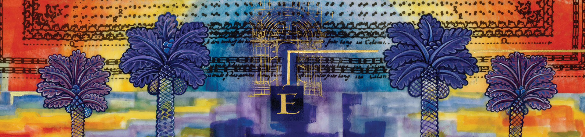 Ezekiel's Vision of the New Temple, Donald Jackson, Copyright 2005, The Saint John's Bible, Saint John's University, Collegeville, Minnesota USA. Used by permission. All rights reserved.
