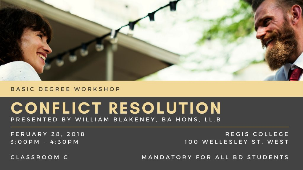 BD Workshop - Conflict Resolution 2018