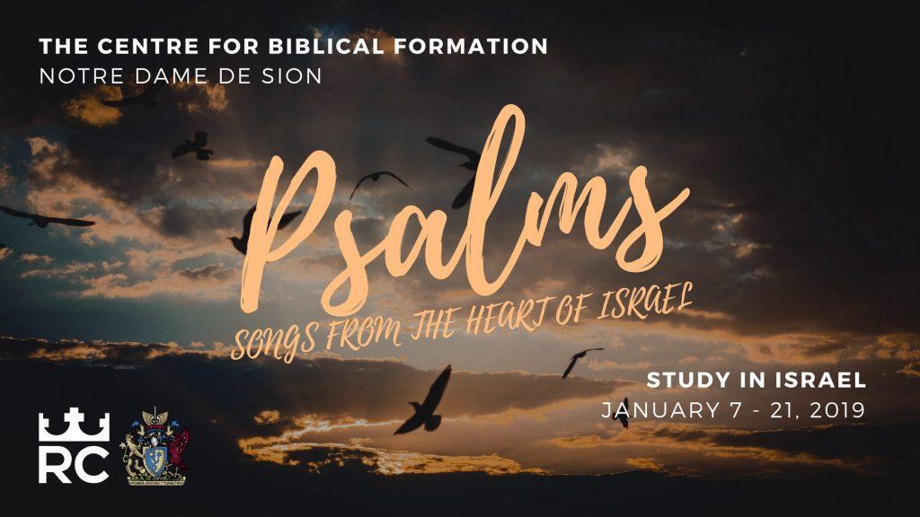 Israel Study Program - Psalms_Israel 2019