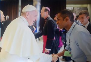 Prevain meets pope Francis
